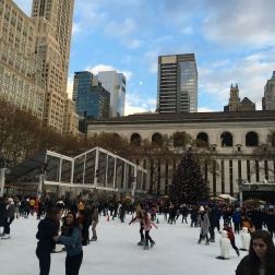 Ice-skating at Bryant Park