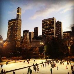Ice-skating at Central Park