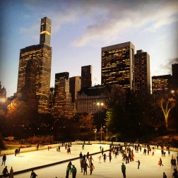 Ice-skating at Central Park