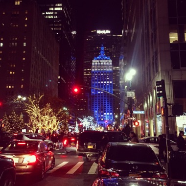 Park Avenue during Xmas holidays