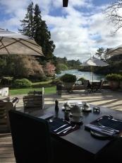 Having breakfast outdoor...